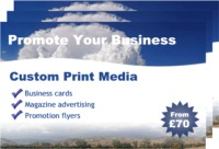 Promote your website with print media and google adwords